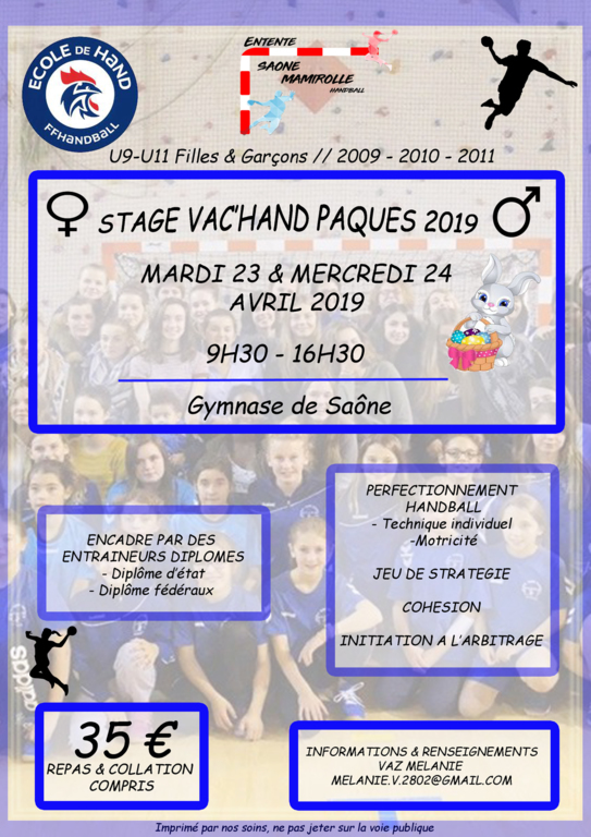 STAGE VAC'HAND PAQUES 2019