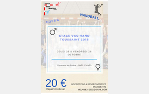 Stage Vac'Hand Toussaint 2018
