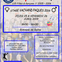 Affiches stages Paques 2019